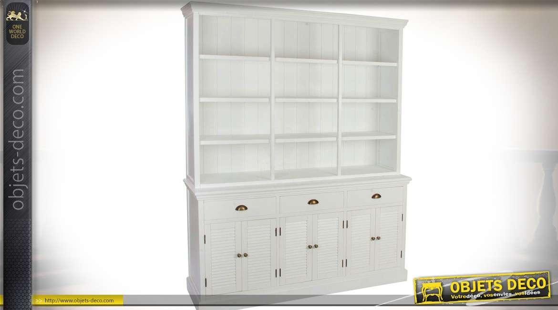biblioth que vitr e en bois vieilli style industriel 210 cm. Black Bedroom Furniture Sets. Home Design Ideas