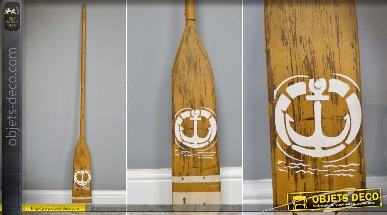 Rame de barque décorative en bois style déco Bord de mer 145 cm