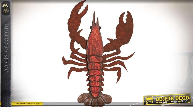 Décoration murale de homard (thème crustacés) 45 cm