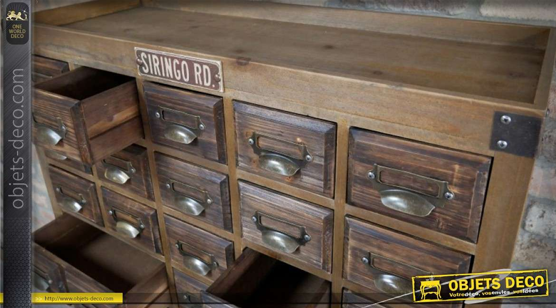 reproduction ancien meuble de m tier tiroirs en sapin cir vieilli 145 cm