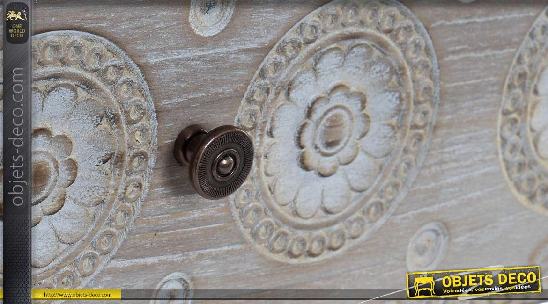 Tiroirs Blanc Et Marron Avec Deux Cm Basse 109 Table De Cérusé Charme 8ONnmwv0