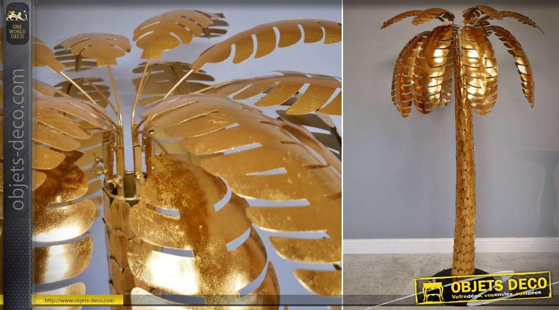 Grand palmier en métal doré brillant 170 cm
