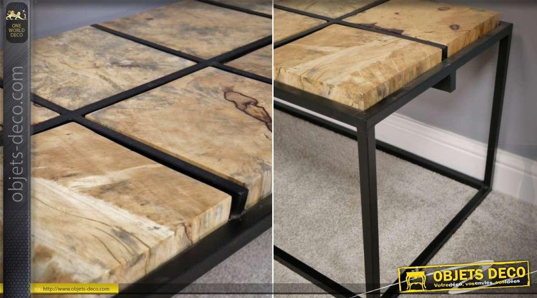 Mat Bois Métal Basse Noir De 110 Design Massif Tamarin Table Cm En Et E2HWDI9