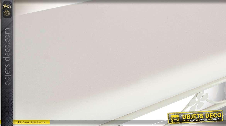 banquette bout de lit fa on fer forg coloris blanc vieilli. Black Bedroom Furniture Sets. Home Design Ideas