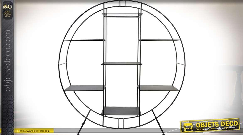 Etagère bibliothèque design circulaire en métal 162 cm
