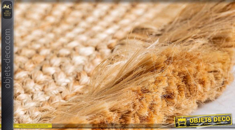 Tapis circulaire Kisaï Ø 240 cm en chanvre naturel coloris sable
