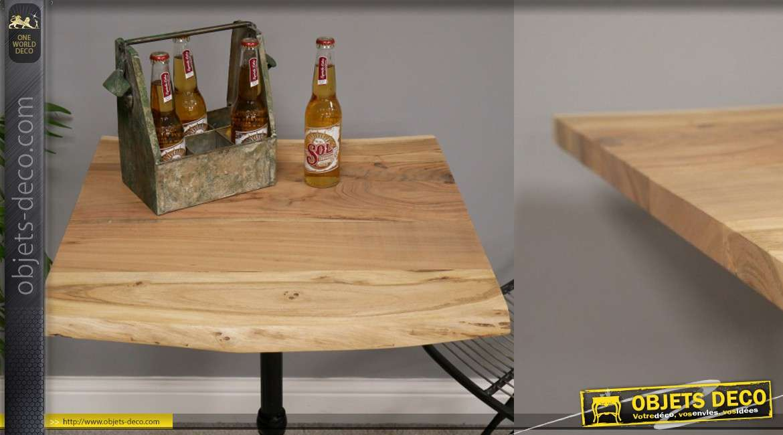 Plateau en bois d'acacia pour table carrée de 60 x 60cm