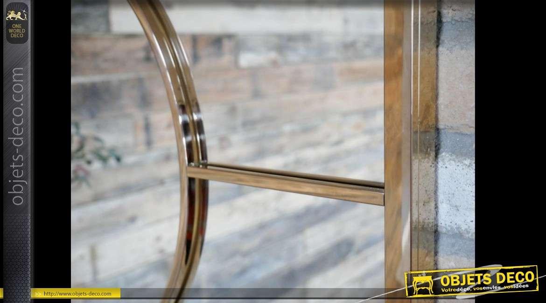 Miroir en métal de style design finition dorée brillante et polie 120 cm