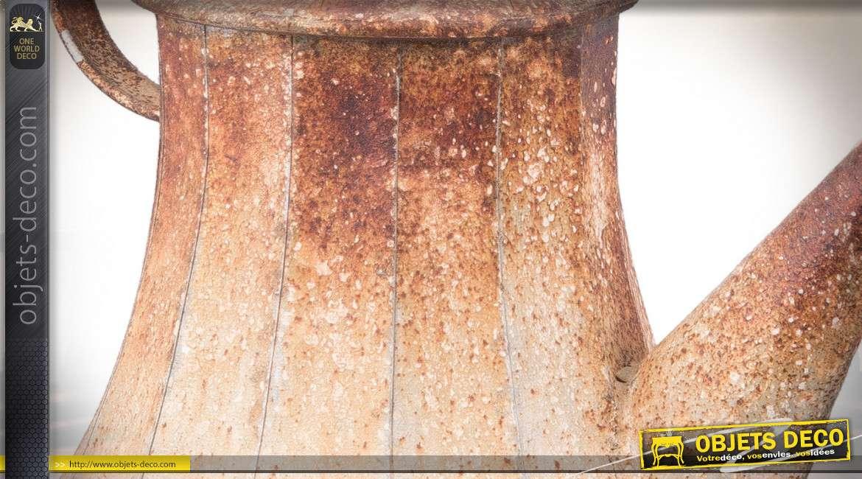 Suspension originale en forme de cafetière ancienne oxydée 35 cm