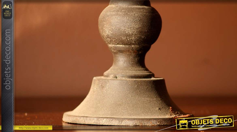 Lanterne à poser antique en forme d'ancien réverbère 56 cm