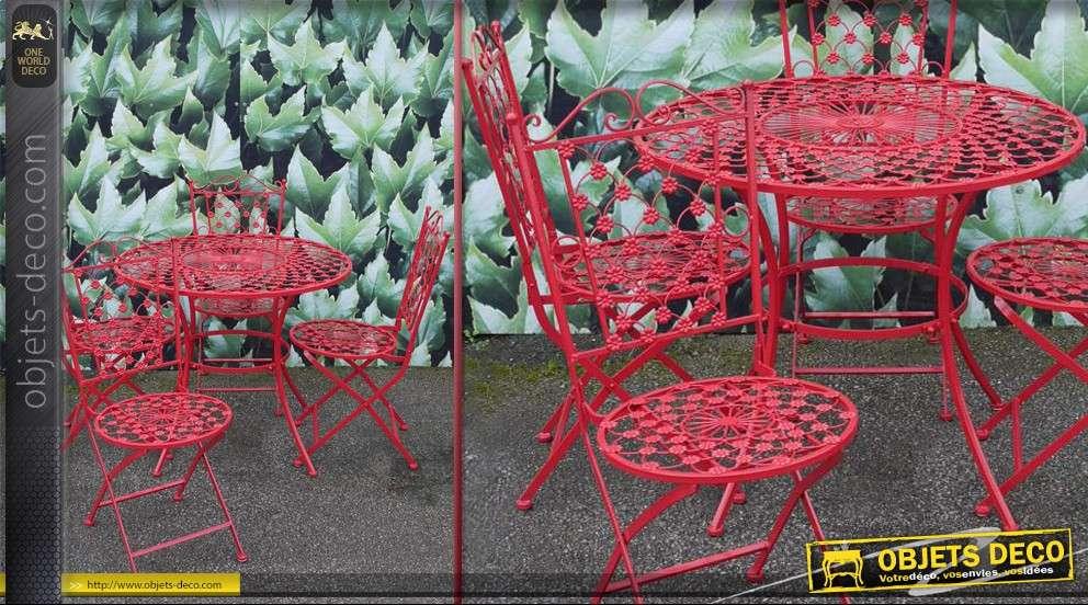 Stunning Table De Jardin En Metal De Couleur Images - House ...
