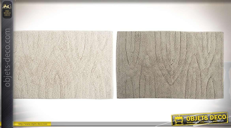 Lot de 8 tapis de salle de bains en coton coloris beige et ...