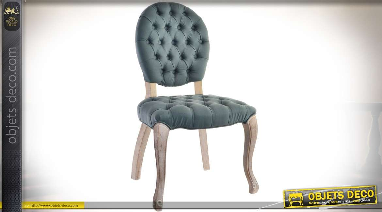chaise m daillon avec assise et dossier habillage tissu. Black Bedroom Furniture Sets. Home Design Ideas