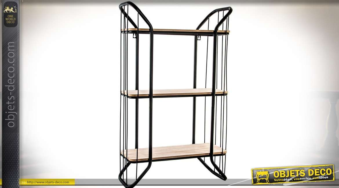 etagere metal industriel good etagre loras r bois et mtal style industriel with etagere metal. Black Bedroom Furniture Sets. Home Design Ideas