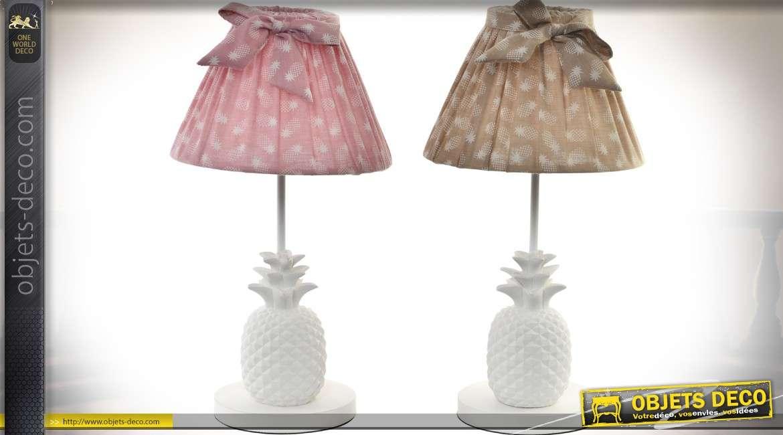 duo de lampes de chevet de style r tro pieds en forme d 39 ananas 40 cm. Black Bedroom Furniture Sets. Home Design Ideas