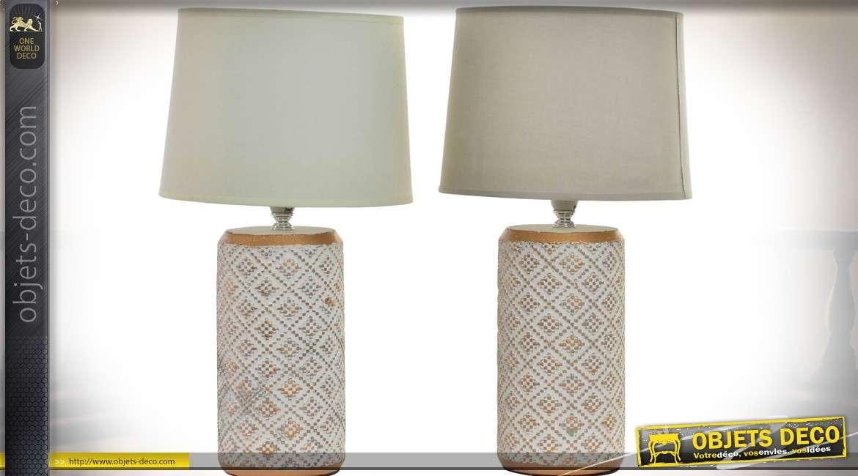Duo de lampe en métal de style ethnique 39 cm