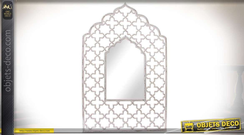 Miroir de style oriental et romantique en bois large for Miroir oriental