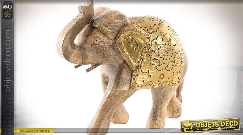elephant sculpté bois