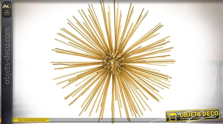 Sphère en rayonnement en métal doré pour décoration d'intérieur Ø 27 cm