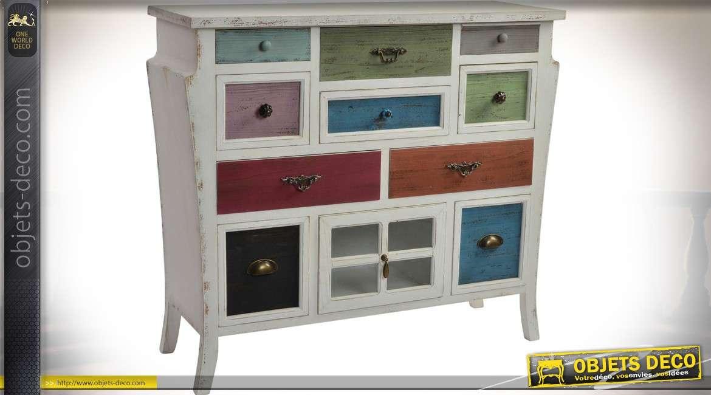 commode originale blanc l 39 ancienne avec 10 tiroirs. Black Bedroom Furniture Sets. Home Design Ideas