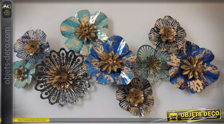 fresque de fleurs et coraux stylis s en m tal pour. Black Bedroom Furniture Sets. Home Design Ideas