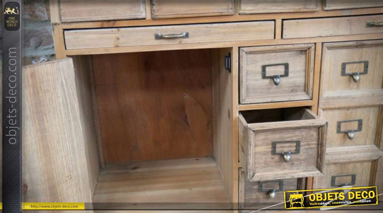 Meuble style industriel inspiré d'un ancien meuble de tri