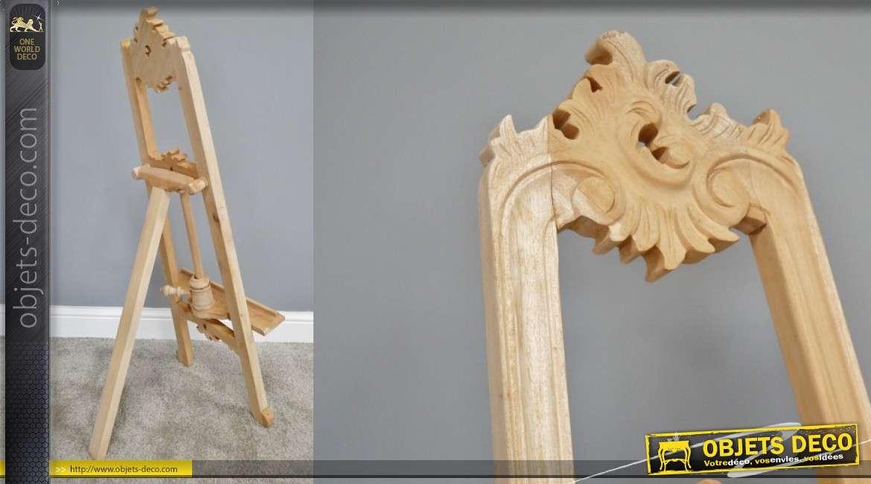Chevalet d'atelier à trépied en bois d'acajou, taille medium 102 cm