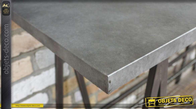 Console en métal de style industriel, finition retro 120cm