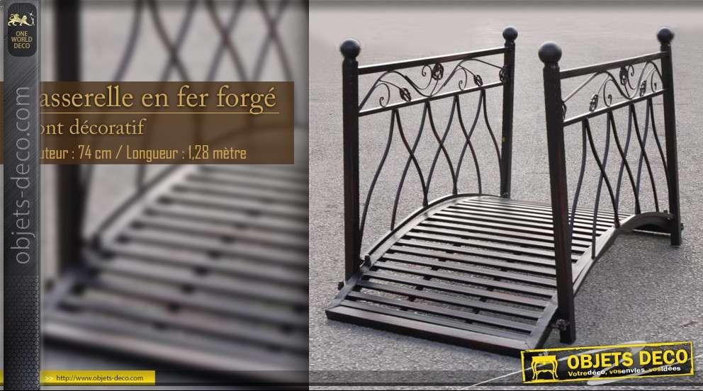 passerelle en fer forg. Black Bedroom Furniture Sets. Home Design Ideas