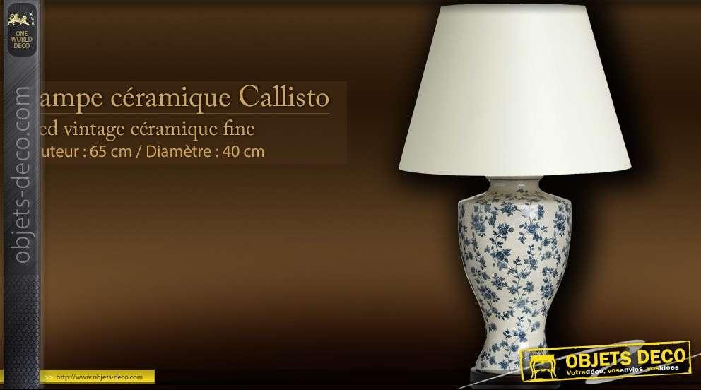 lampe d co avec pied c ramique callisto. Black Bedroom Furniture Sets. Home Design Ideas