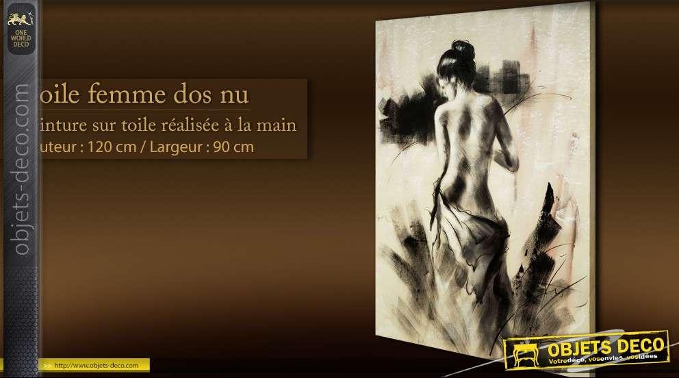 Peinture Sur Toile Femme Dos Nu