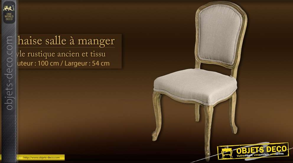Chaise Salle A Manger Style Rustique Ancien