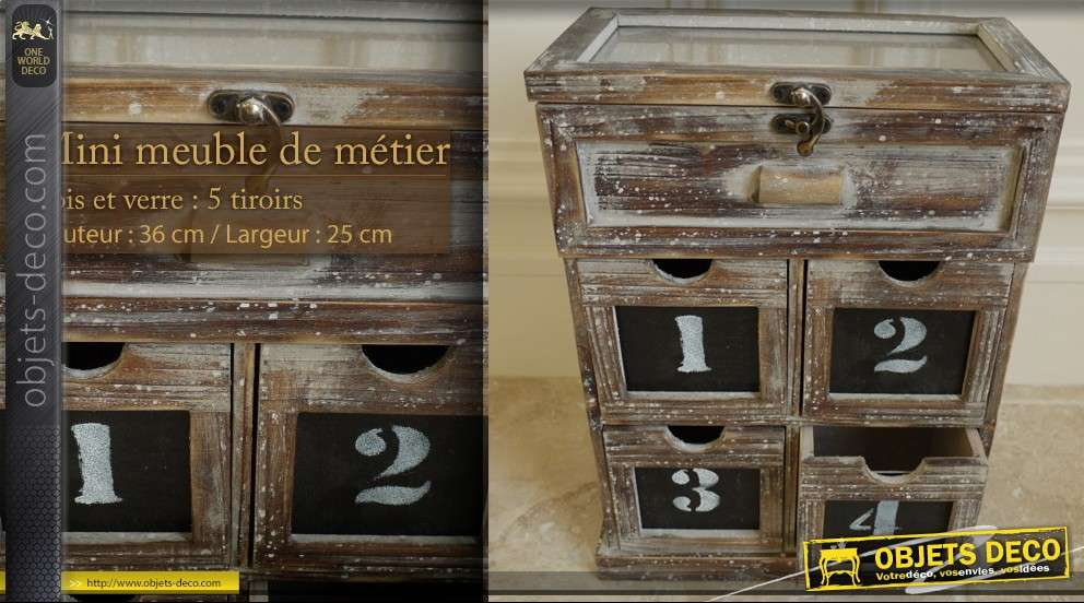 mini meuble de m tiers 5 tiroirs. Black Bedroom Furniture Sets. Home Design Ideas