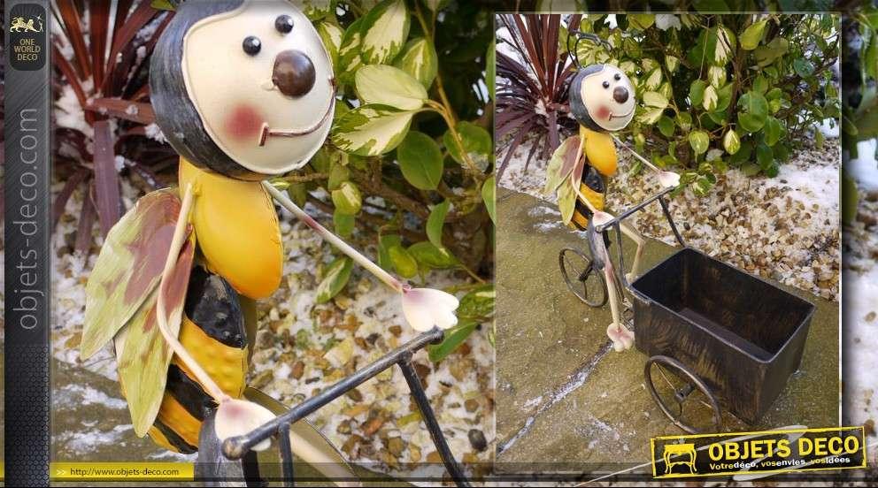 Personnage d coratif abeille en triporteur for Personnage en fer pour jardin