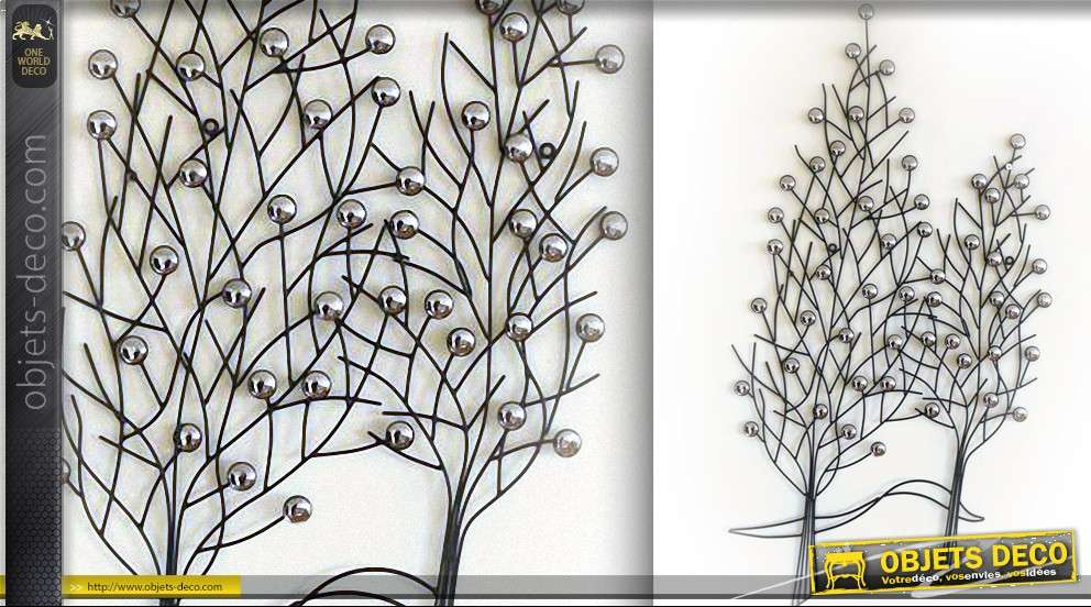 D coration murale en fer forg arbres for Decor mural exterieur fer forge