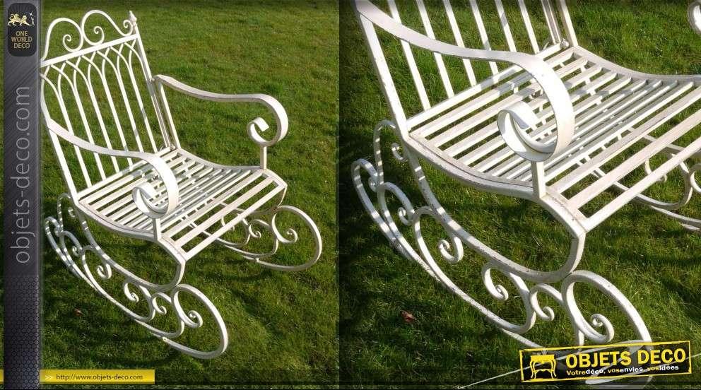 Rocking chair vintage en fer forgé