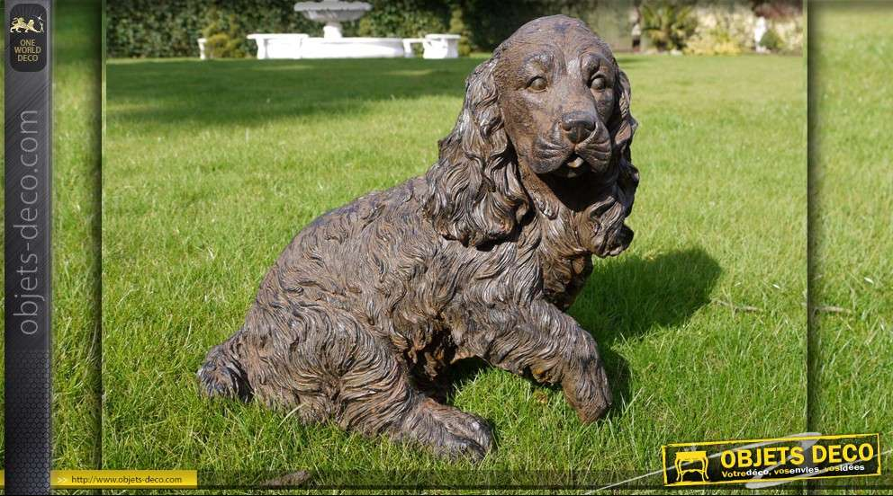 Statuette décorative de chien