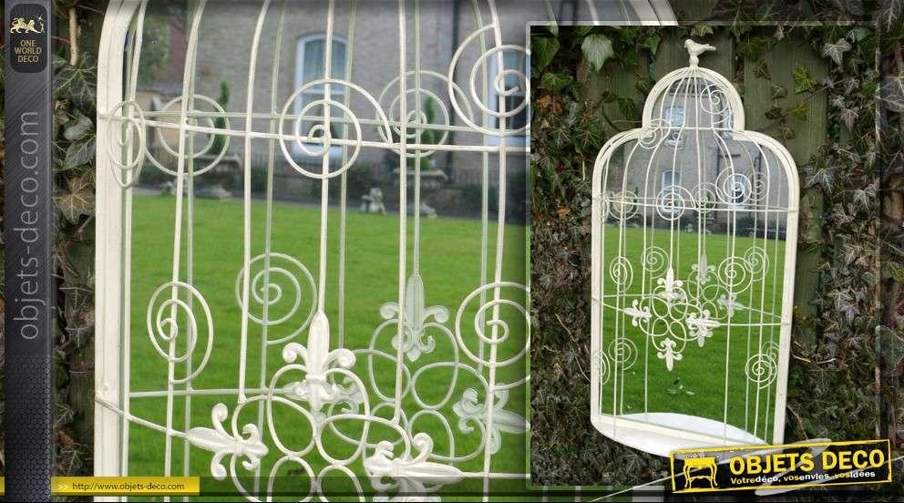 Grand miroir d co en forme de cage oiseaux for Grand objet deco