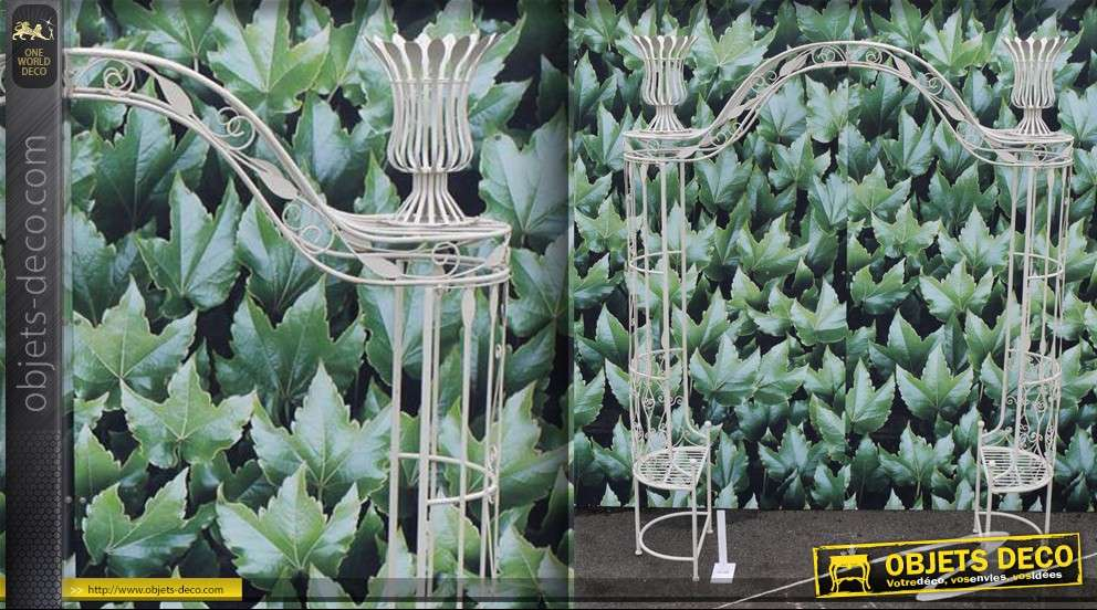 arche de jardin avec deux assises. Black Bedroom Furniture Sets. Home Design Ideas