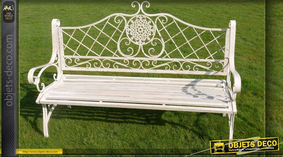 Banc de jardin metal good banc de jardin savannah coloris for Banc jardin anglais