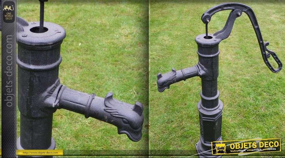 Pompe eau ancienne en m tal grand mod le for Pompe fontaine a eau