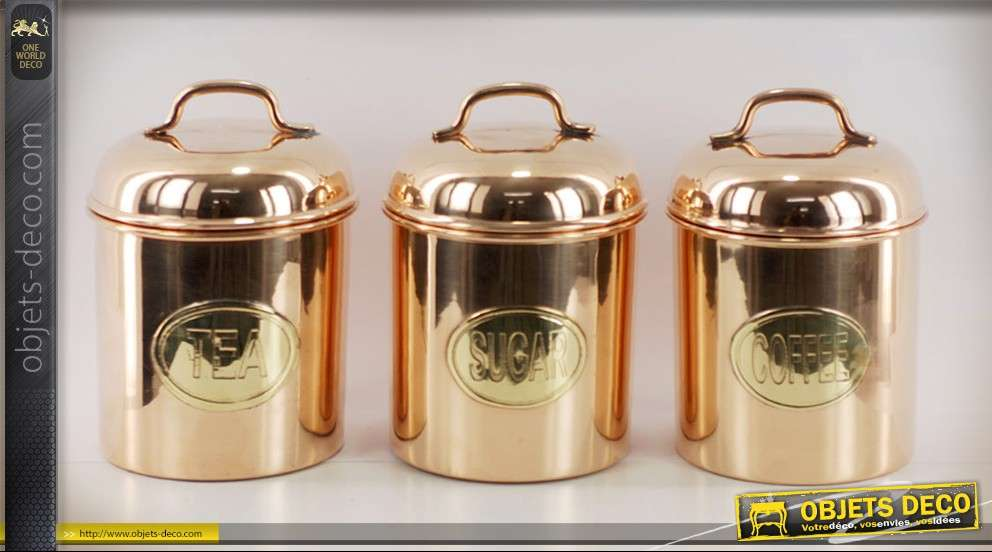 Service à thé et café déco marine en laiton