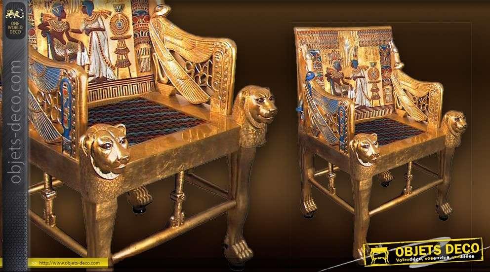 Taille ToutânkhamonRéplique Réelle Du Trône Pharaon 8n0wmN