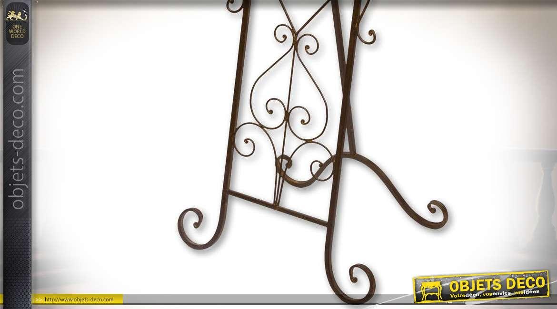 Pupitre de présentation en métal et fer forgé avec écriteau ardoise 103,5 cm