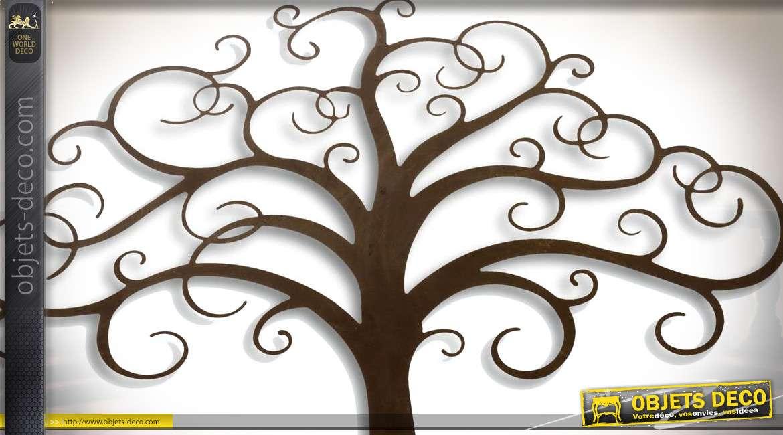 Duo de décorations murales en métal arbres stylisés 190 cm