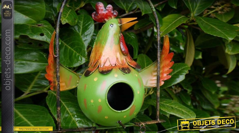 Nichoir à oiseau collection Villa de Luxe, en métal, à suspendre 70cm