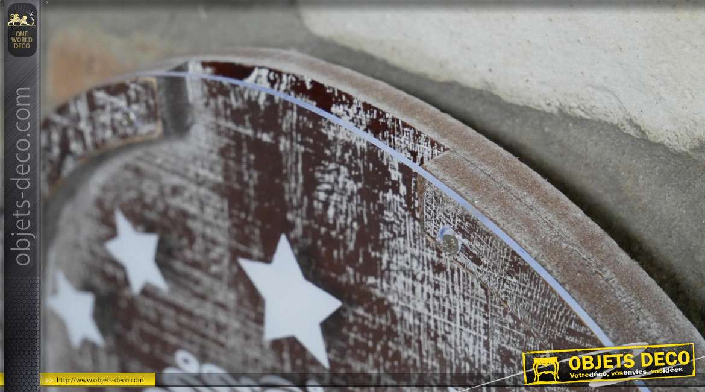 Support mural pour capsules de bières, en bois finition vintage style machine à sous, 44cm