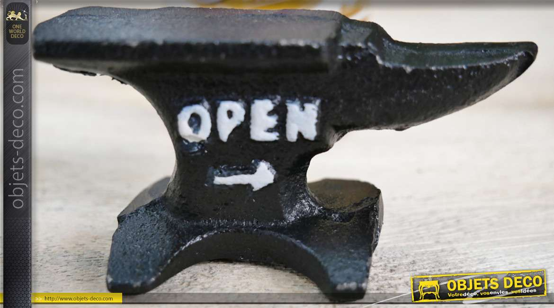 Décapsuleur en fonte en forme d'enclume, finition ancienne, modèle de poche 8cm