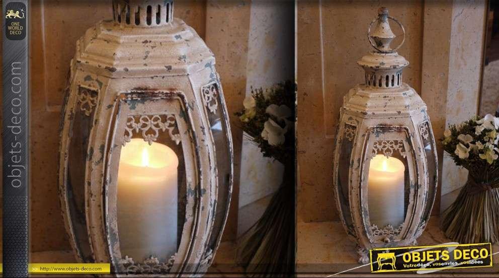 Lanterne rétro patine vintage