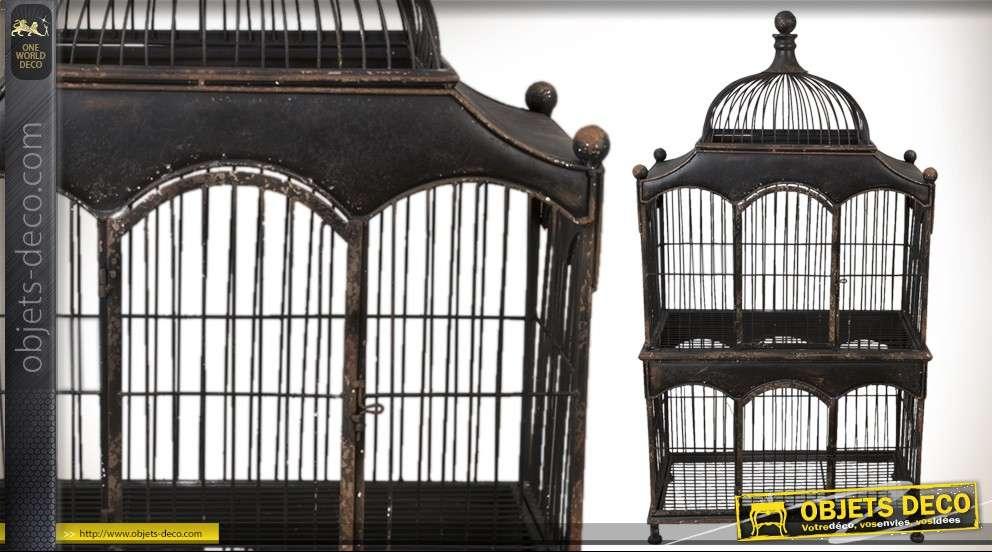 grande cage oiseaux ancienne d co prestige. Black Bedroom Furniture Sets. Home Design Ideas
